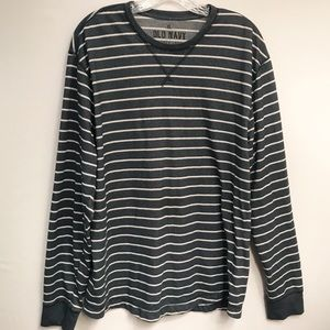 Old Navy • Men's Long Sleeve Striped Tee Size XL